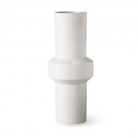 hk living vase droit graphique design blanc ecru tachete ace6819