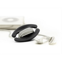 Bobino enrouleur de câble S noir manta design
