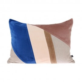 hk living coussin rectangulaire patchwork design velours multicolore tku2058