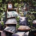 hk living coussin exotique feuilles de bambou tku2015