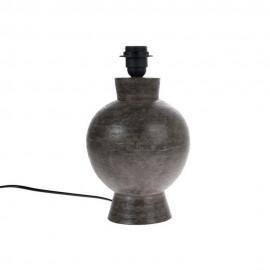 hk living pied de lampe rond gres gris fonce vol5034