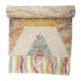 Tapis en laine franges couleurs pastel bloomingville