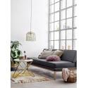 bloomingville tapis en laine franges couleurs pastel 82043494