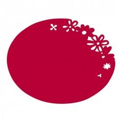 ASSIETTE PLASTIQUE ALICE rouge