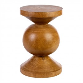 pols potten ball tabouret bois sculpte 500-030-025