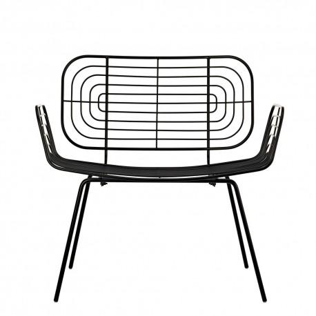 pols potten fauteuil boston lounge bas metal noir 300-020-011