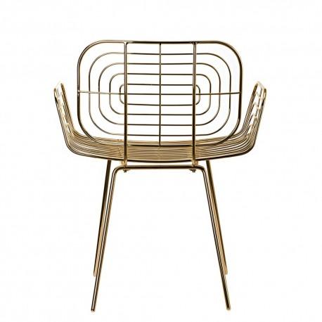 pols potten boston chaise metal dore laiton 300-020-012