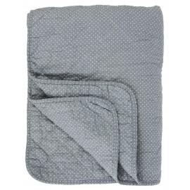Boutis couvre-lit bleu petits pois IB Laursen