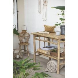 Table console rustique bois de bambou IB Laursen