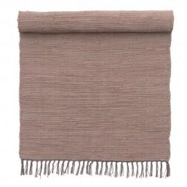 petit tapis descente de lit mauve coton bungalow denmark 60 x 90 cm