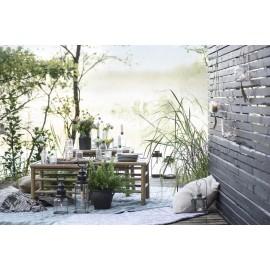 set de 2 tables basses carrees bois bambou ib laursen