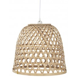 suspension cloche bois bambou tresse ib laursen 3837-14