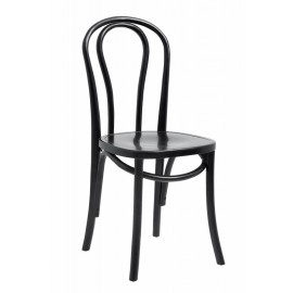 Chaise bistrot bois Nordal noir