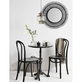 Chaise bistrot bois noir brillant Nordal