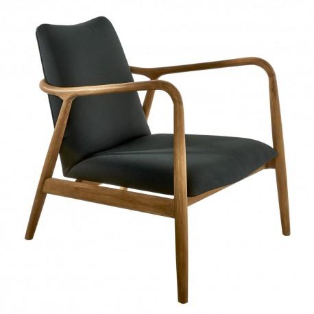 pols potten charles fauteuil design retro scandinave noir 550-020-086