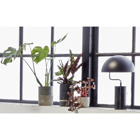 lampe de table design marbre noir hubsch 990718