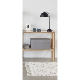 Lampe de bureau épurée design métal noir Hübsch