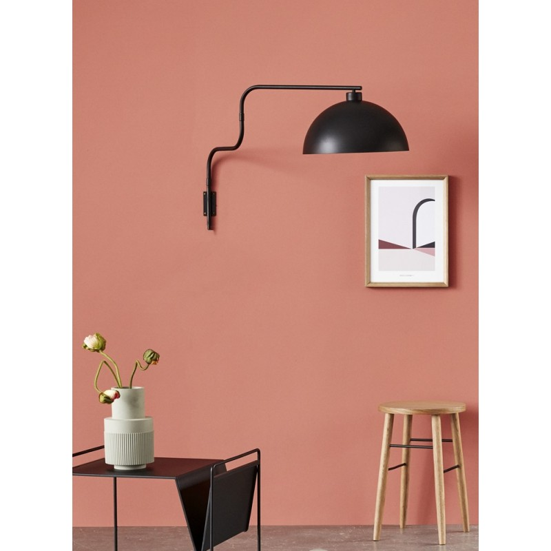 hubsch applique bras articule abat jour demi sphere metal. Black Bedroom Furniture Sets. Home Design Ideas