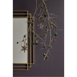 Miroir art nouveau metal dore nordal square