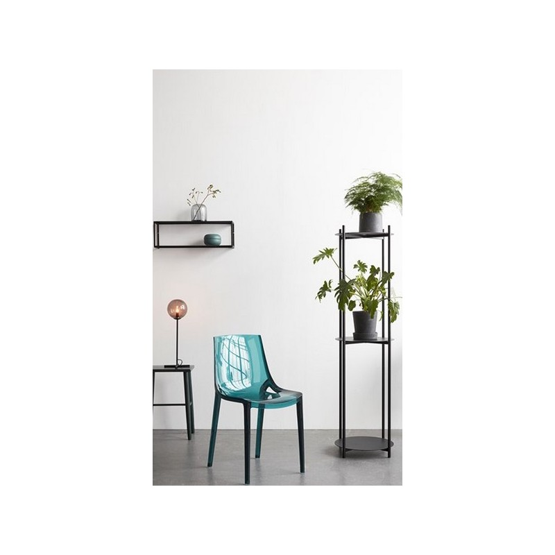 hubsch etagere murale metal grillage noir 020712. Black Bedroom Furniture Sets. Home Design Ideas