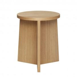 Tabouret design rond bois clair Hübsch
