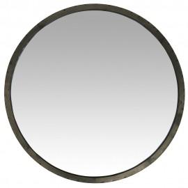 miroir mural rond metal vieilli style vintage brocante ib laursen 31000-25