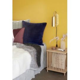hubsch table de chevet avec rangement bois de chene clair 880909
