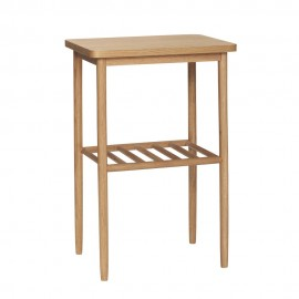 table d appoint carree bois clair design scandinave hubsch 880906