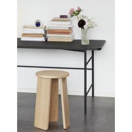 Tabouret rond design scandinave épuré bois clair Hübsch