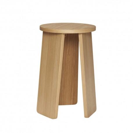 tabouret rond design scandinave epure bois clair 880913