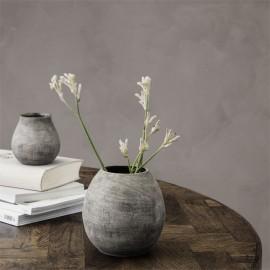 house doctor groove vase gris effet beton rustique sv1311
