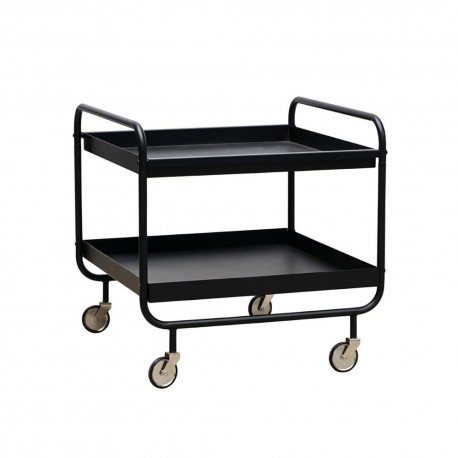 house doctor trolley table basse desserte a roulette metal noir pj0140
