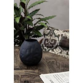 vase verre noir style deforme cabosse house doctor groove sv1301