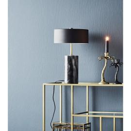 Lampe à poser style art déco noire laiton marbre noir Madam Stoltz