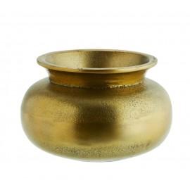 madam stoltz petit vase plat aluminium laiton antique AEI-15823-B