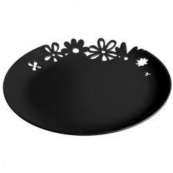 Assiette plastique noire koziol alice
