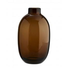 madam stoltz vase en verre marron ambre forme ovale J71172075BR