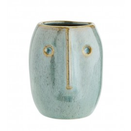 madam stoltz pot a cactus gres visage vert clair HY15321-10-G