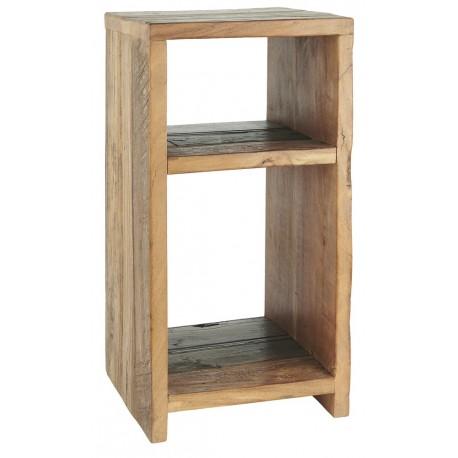 table d appoint de chevet rustique bois recycle ib laursen unique 106-00