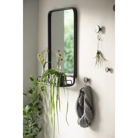 Miroir mural vintage rétro métal noir étagère IB Laursen