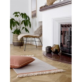 tapis descente de lit en laine couleur beige franges bloomingville 32703183