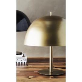 Petite lampe de chevet champignon métal laiton antique Madam Stoltz