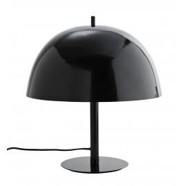 madam stoltz lampe de chevet champignon metal laque noir F18080BL
