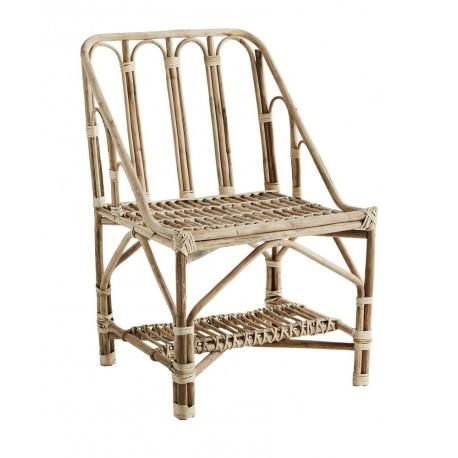 madam stoltz fauteuil en bois de bambou retro vintage AEI-15327