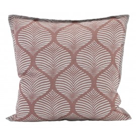 house doctor paper housse de coussin carree lin rose nude imprime ab1589