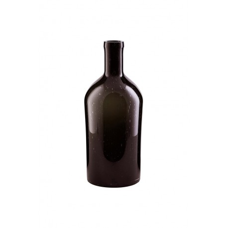 house doctor vase bottle bouteille marron fonce wl04001