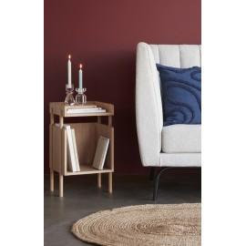 hubsch table d appoint chevet design epure bois clair 880914