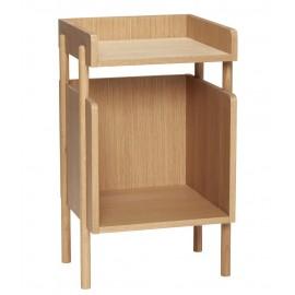 Table d'appoint chevet design épuré bois clair Hübsch