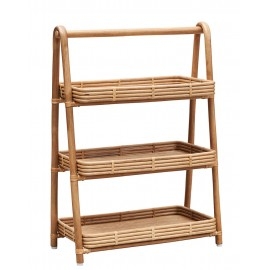 house doctor orga etagere a poser rangement rotin naturel 3 niveaux id1400