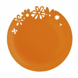 Assiette plastique orange koziol alice orange